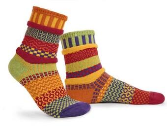 Solmate Socks - Daffodil Crew - Adult MEDIUM