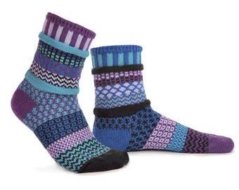 Solmate Socks - Raspberry Crew - ADULT SMALL