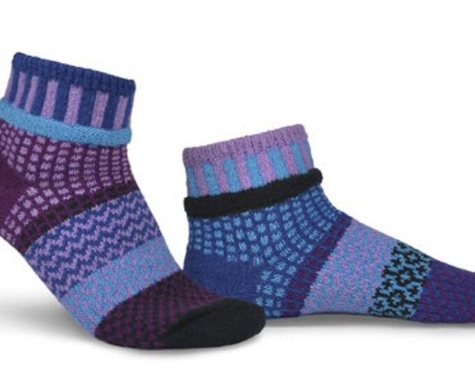 Solmate Ankle Socks - Violet - Adult Large