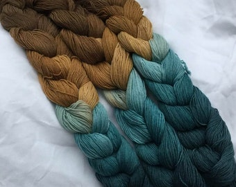 SPECIAL! Surf N' Turf Fingering Weight - repeating gradient or warp