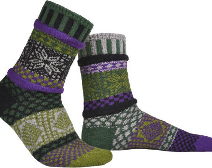 Solmate Socks - Balsam Crew - Adult LARGE