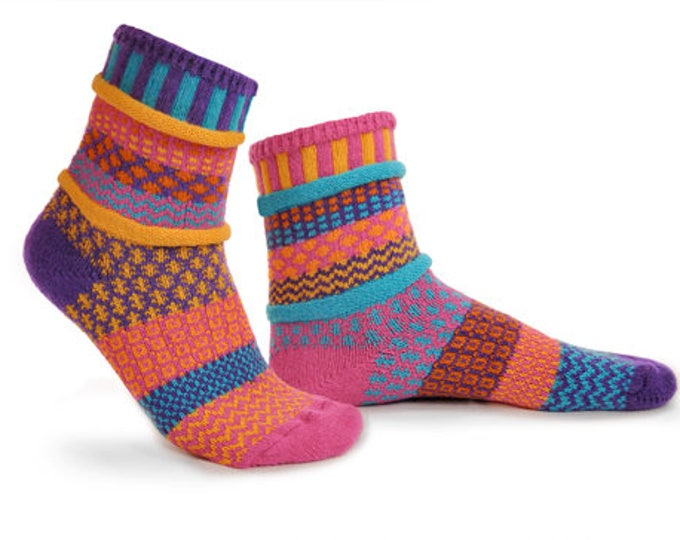 Solmate Socks - Carnation Crew - Adult X-LARGE