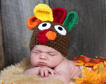Baby Turkey Hat Baby Winter Hat Baby Earflap Beanie Baby