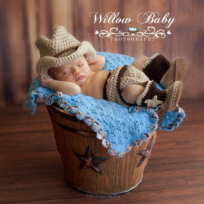 Cowboy Cowgirl Photography 3 Pce. set Handmade Crochet  e9c788c3f38a