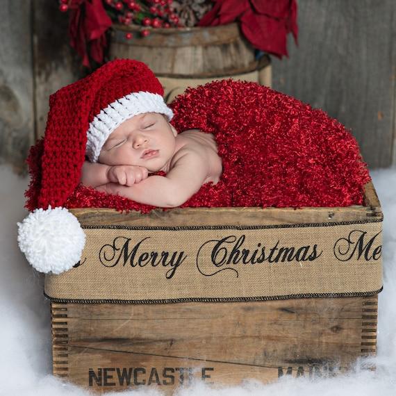 6ee9e453381ee Newborn Santa Hat Hat Newborn Hat Baby Santa Hat Baby