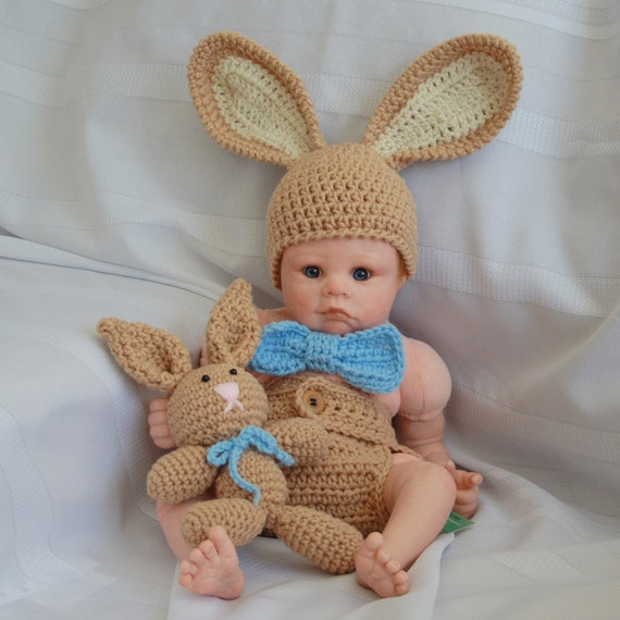Bunny set hat and diaper cover with carrots OR stuffy bunny  7da35e2cac01