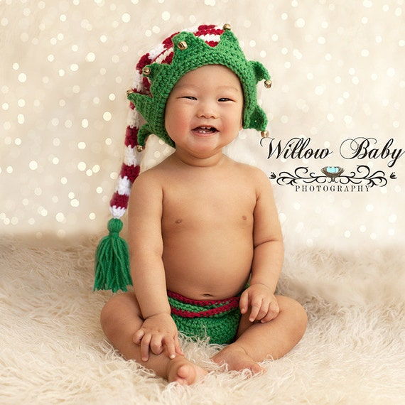 Long Tailed Elf Hat and Diaper Cover  Christmas Prop    2206eb6d3a0d