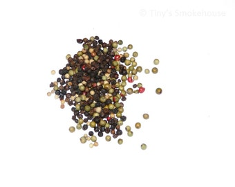 Hickory and Apple Wood Smoked Peppercorn Medley - Gourmet Smoked Black Peppercorn Blend