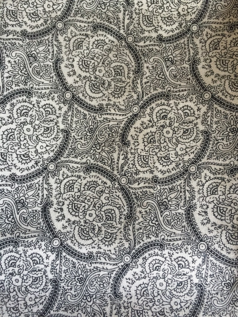 40s Black white fine print feedsack floursack