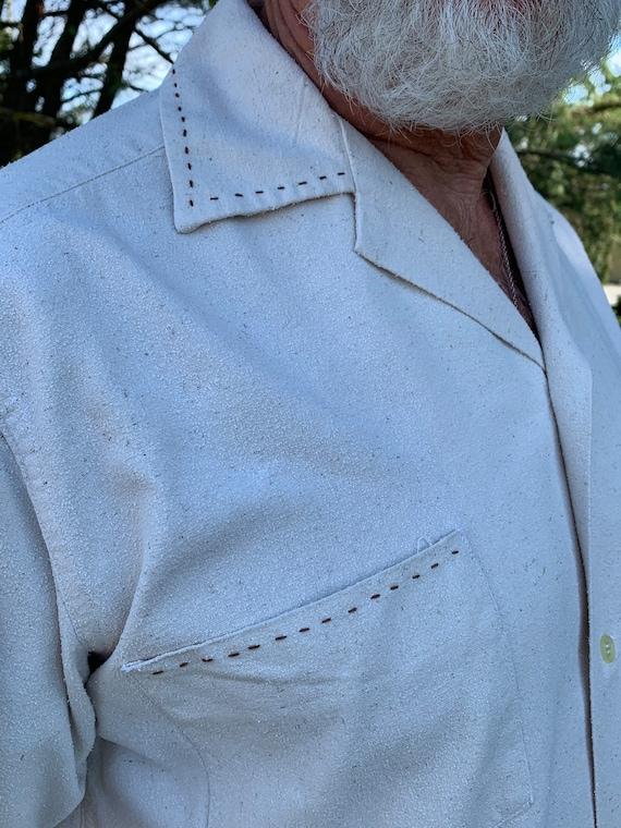 Vintage Raw Silk men's shirt