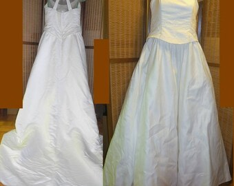 XL 16 18 XL Wedding Dress Gown White Bride Bridal Full Skirt Princess Worn once only