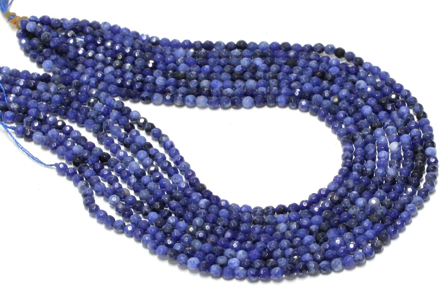 "One SEMI-PRECIOUS Gem CHIPS Beads16/"" Strand Sodalite"