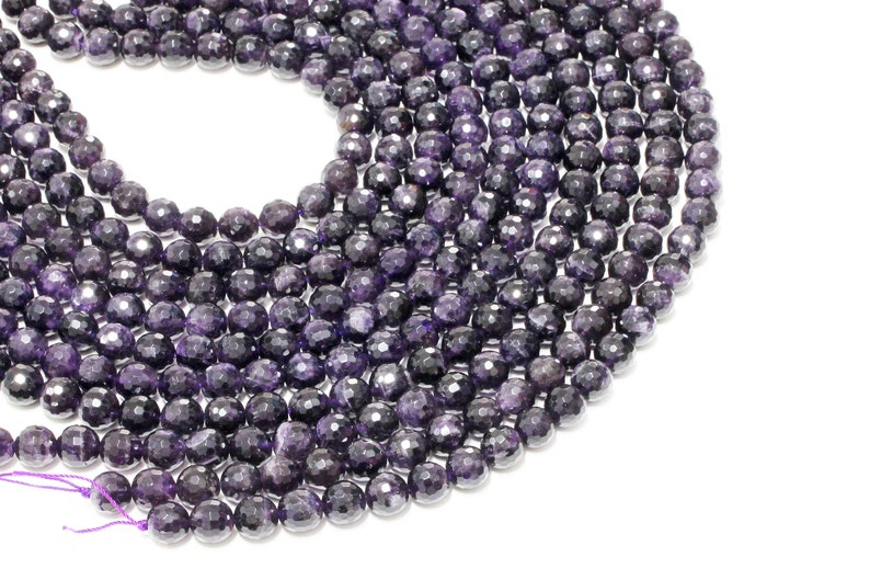 16 Full Strand Amethyst beads,semiprecious beads,gemstone beads,faceted round beads,jewelry making beads,purple amethyst