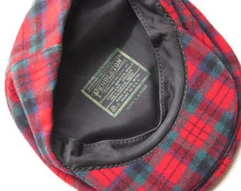 0d7317c3ff6 Pendleton Cap 100% Virgin Wool Red Green Black Plaid Boy s Women s Large  Made in USA Newsboy Women s Cap Hat Christmas Gift Holiday Fashion