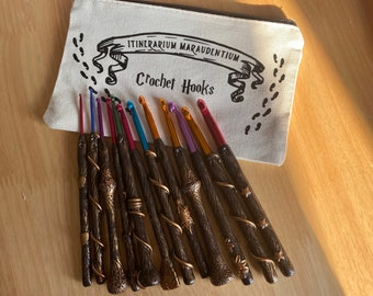 Full Set Magic Wand Crochet Hooks with Free Hook Case