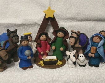 Polymer Clay Nativity 3 Inches Tall