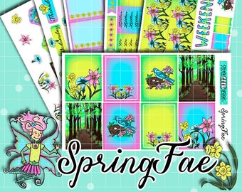 Planner Stickers   Spring Stickers   Fairy Stickers   Flower Stickers   Spring Fae Stickers   Spring Colors Stickers