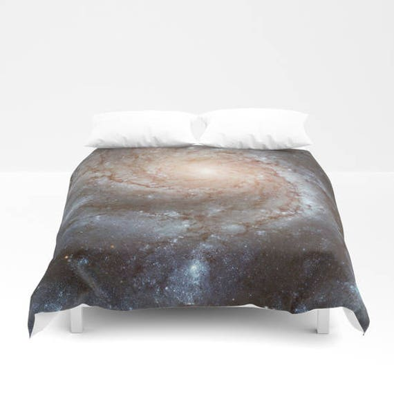 """Pin wheel Nebula Duvet Cover by Suzanne Carter, Space,universe,cosmos,stars,galaxy, bed linen,duvet cover,bedroom,sleep, art, 88"""" x  88"""""""