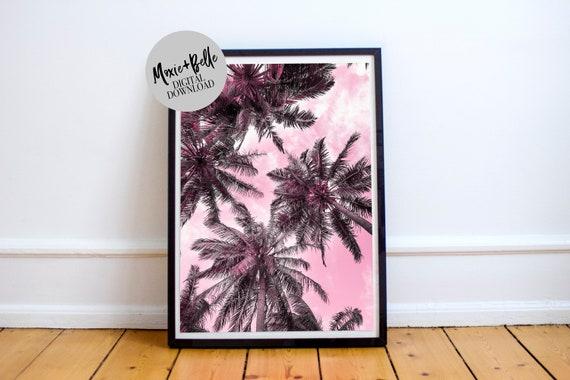 Sunset Palms  Printable Art