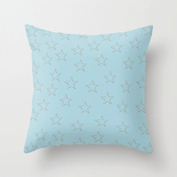 Stars in blue Pillow Cover