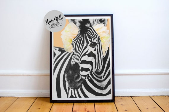Debra the Zebra printable wall art