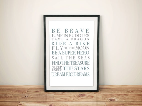 Be Brave Digital Downloadable Quote