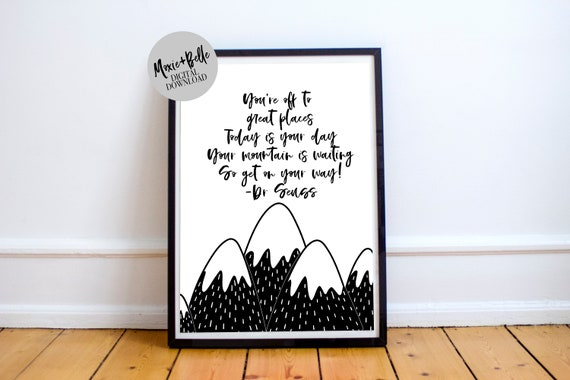 Dr Seuss Quote printable nursery wall art