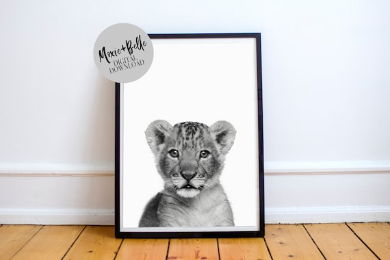 Lion Cub Instant Downloadable Print