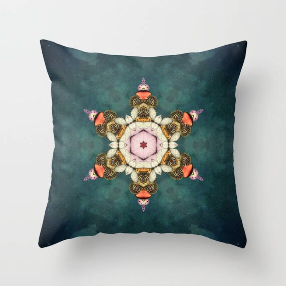 Butterfly Medallion Pillow Cover by Suzanne Carter Home Decor, Pillow, Kaleidoscope, Home Decor,Lounge Room, Living Room, 18 x 18, 22 x 22