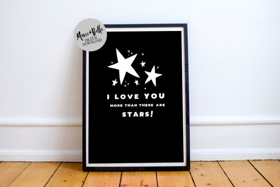 More than Stars Quote Printable Art