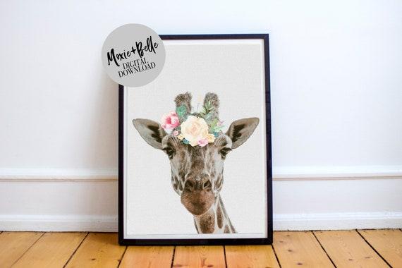 Jovie the Giraffe printable wall art