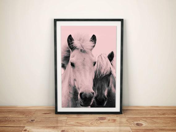 Pink Ponies printable art