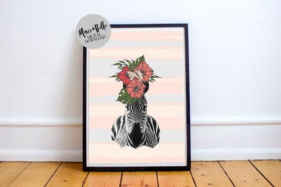 Tropical Stripes-Printable Art