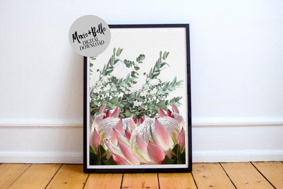 Protea & Eucalyptus -Printable Art