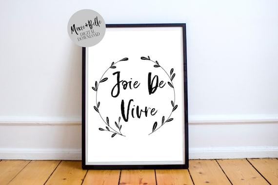 Joie De Vivre Quote Printable Art