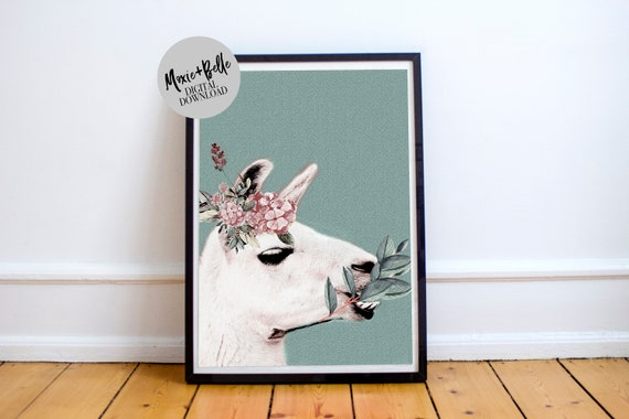 Lily llama -Printable Art