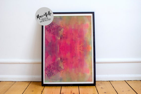 Sunset Abstract printable art