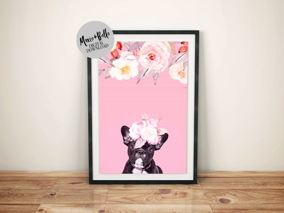 Elodie- french bulldog printable wall art