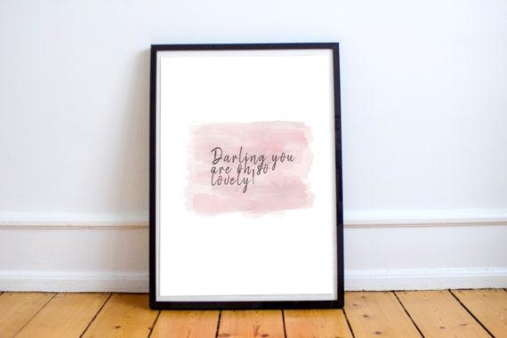 Oh So Lovely  Printable Art