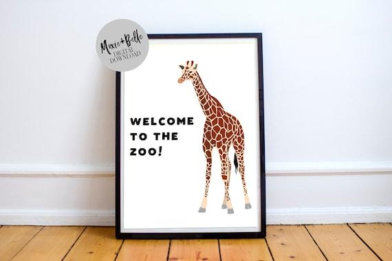 Welcome to the Zoo  Printable Art