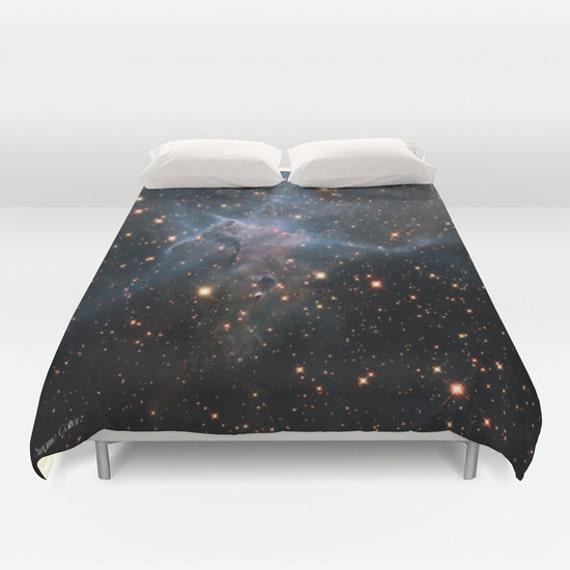 "Mysic Mountain Nebula Duvet Cover by Suzanne Carter, duvet, Space,universe,cosmos,stars,galaxy,duvet,bedroom,sleep, art, 88"" x  88"""