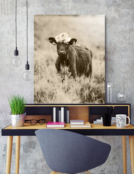 Daisy -Cream printable cow art
