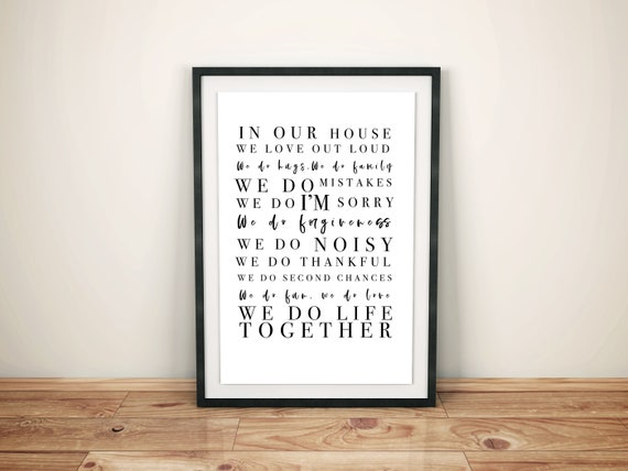 House Rules  Digital Downloadable Quote