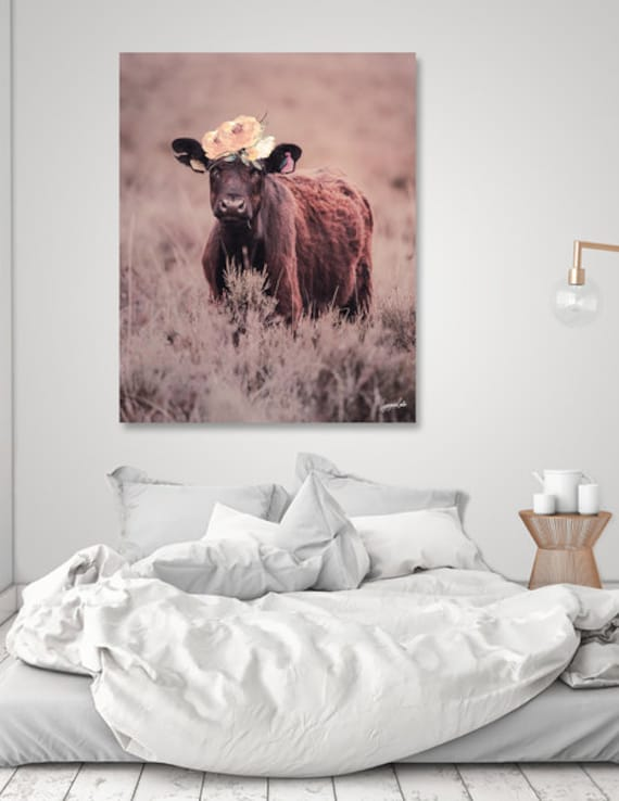 Daisy -fairy tones printable cow art