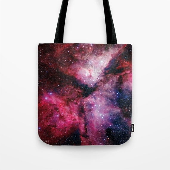 Carina Nebula Market Tote Bag, Space,Nebula,Red,Astronomy, Unique Market Bag,Library Bag, Accessory, Bags and Purses, 16 x 16, 18 x 18g