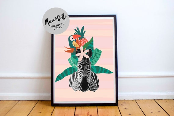 Jungle Stripes-Shipped Art Print