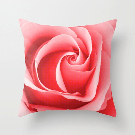 Pink Rose Pillow Cover