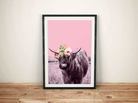 Highland Cow digital download for the nursery or kids room
