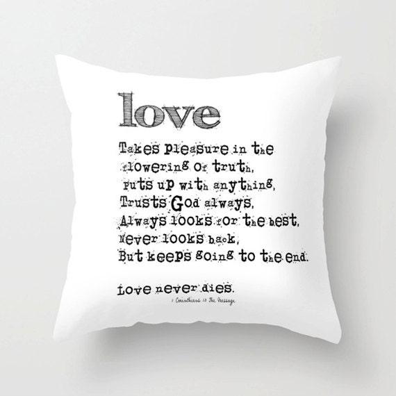 1 Cor 13 Pillow Cover