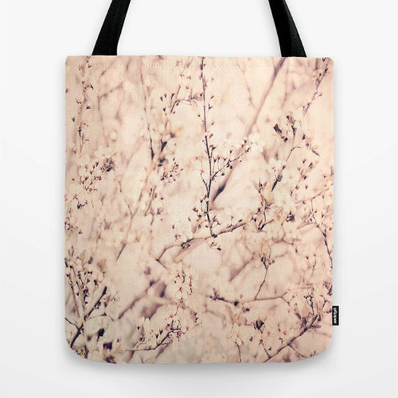 Spring Tote Bag, Photo Bag, Unique Market Bag,Library Bag,Butterflies, Accessory, Bags and Purses, 16 x 16, 18 x 18